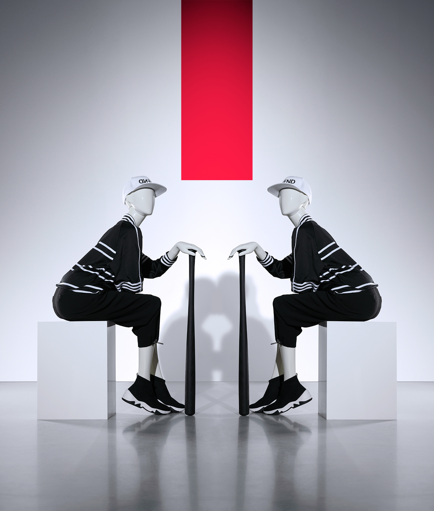 Blend sitting woman